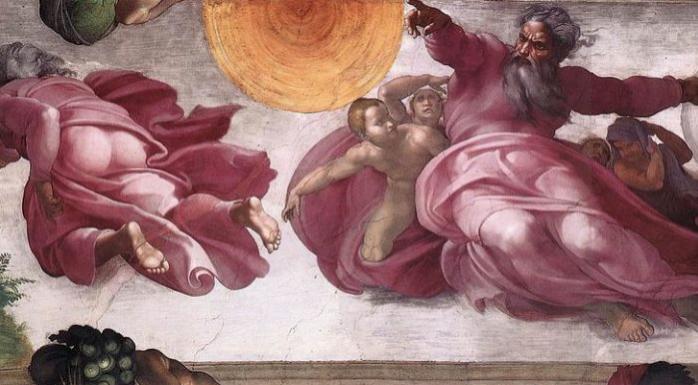La Creazione degli astri e delle piante alla Cappella Sistina