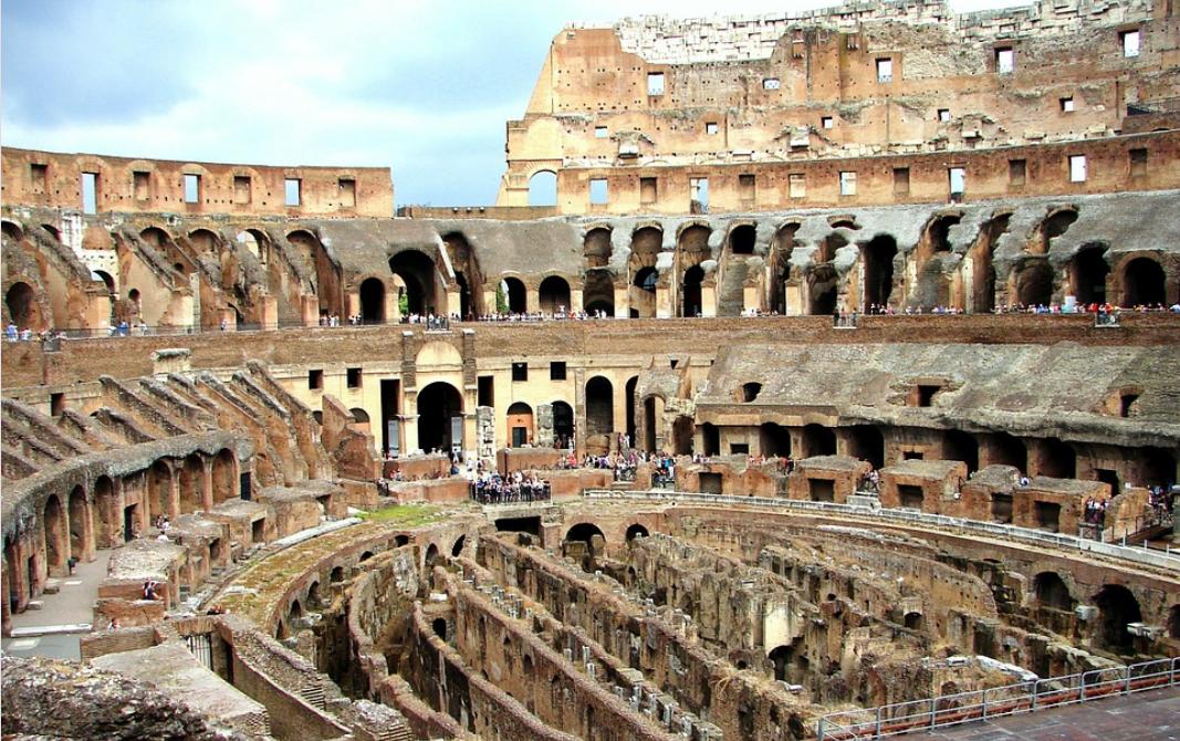 Il Colosseo all'interno