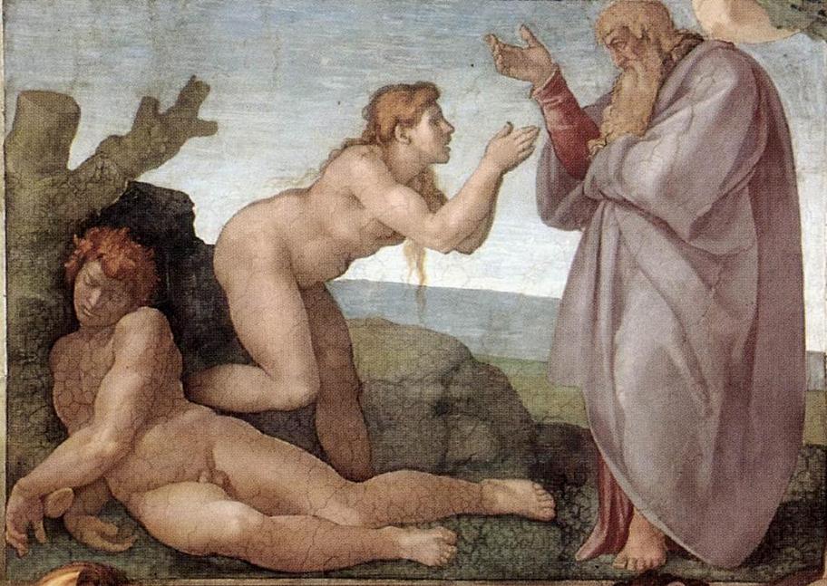La Creazione di Eva di Michelangelo
