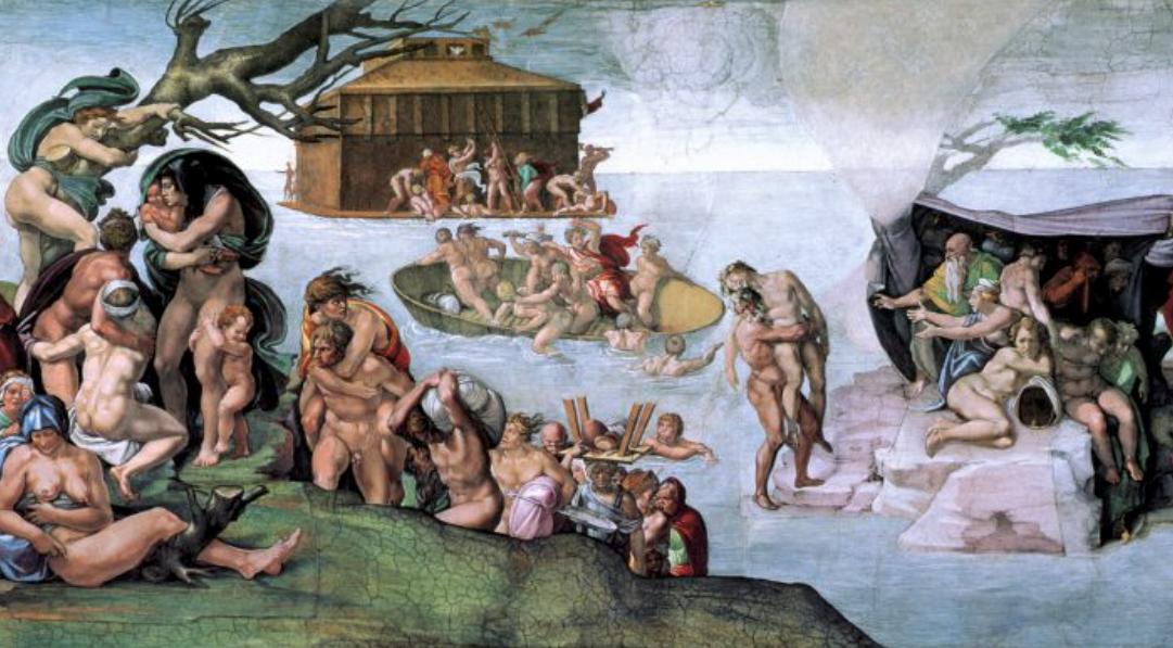 Il Diluvio Universale di Michelangelo nella Cappella Sistina