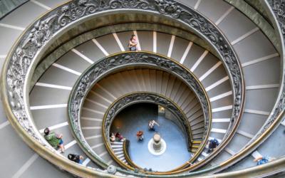 La scala del Bramante ai Musei Vaticani