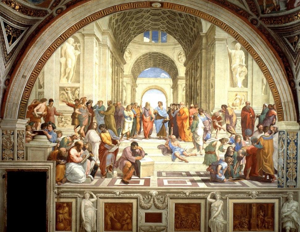 La Scuola di Atene ai Musei Vaticani